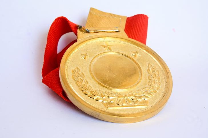 medal, award, gold, success, achievement, winner, ribbon