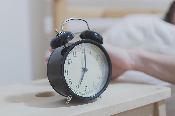 pagi, Clock, Alarm, jam alarm, tempat tidur, bangun, tidur