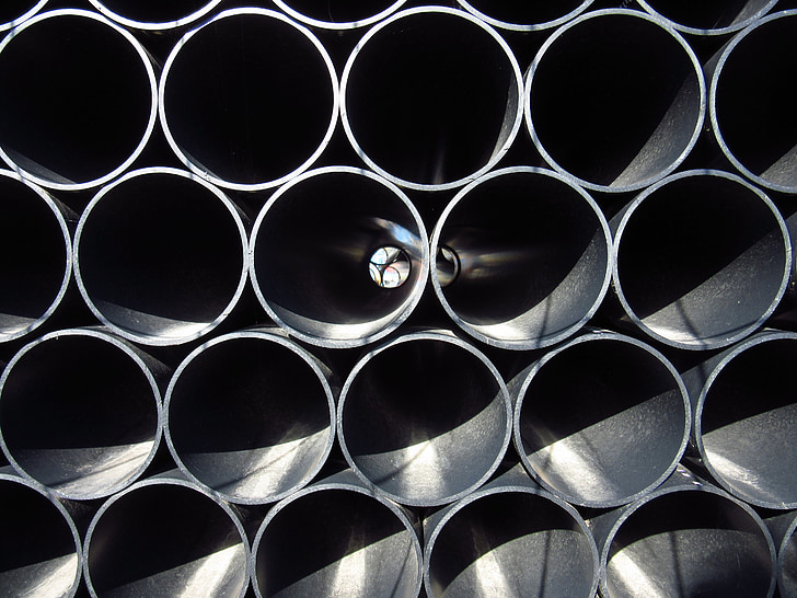 pipes, site, house construction, pipe, stack, stacked, circle