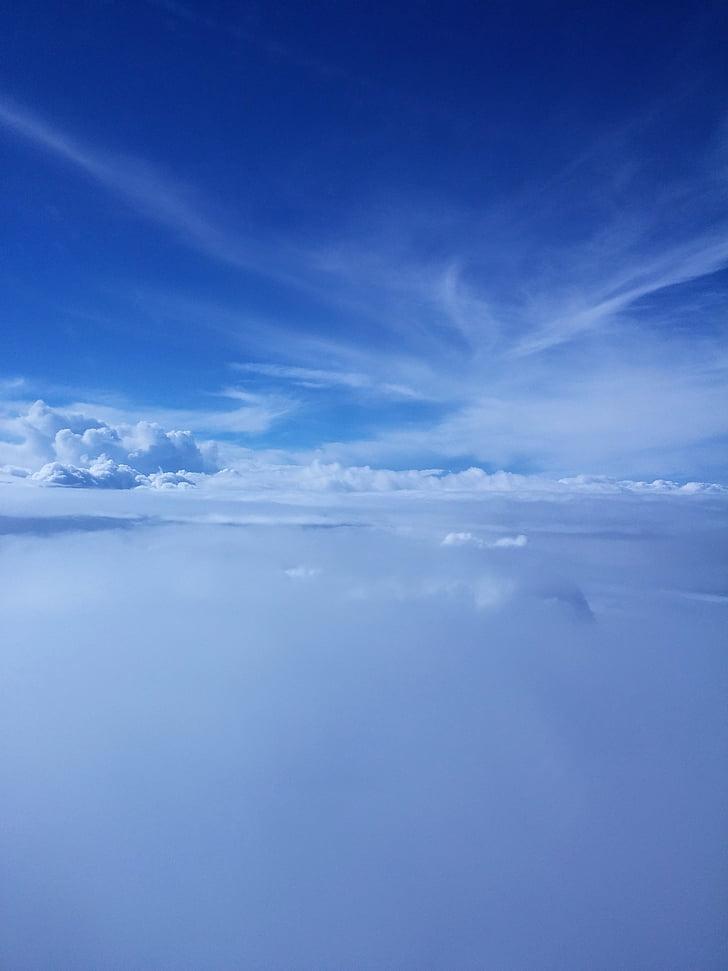 taevas, sinine, pilved, loodus, pilve - taevas, scenics, Sea