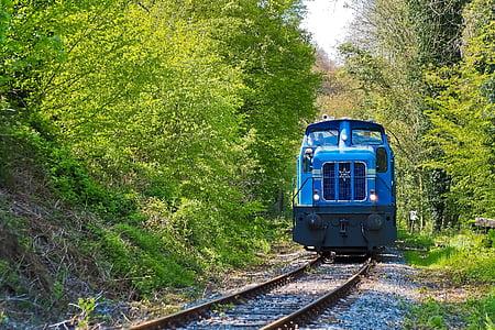 ferrocarril de, loco, tren, carril de, locomotora antigua, locomotora, salida