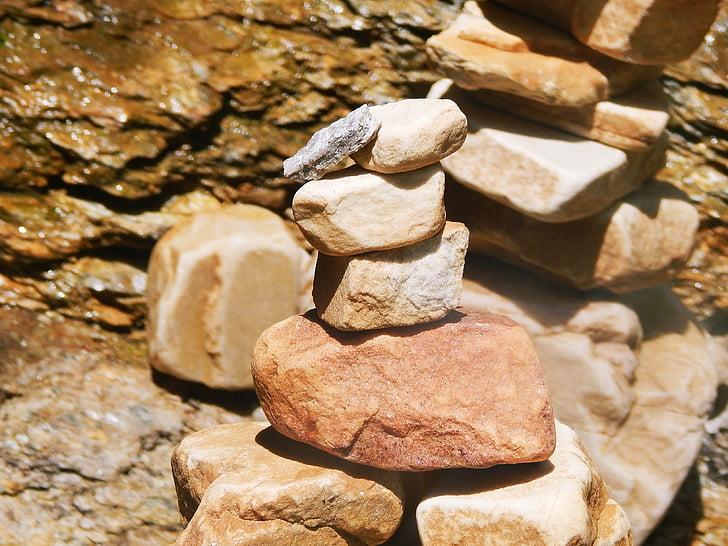 pierres, Balance, Zen, nature