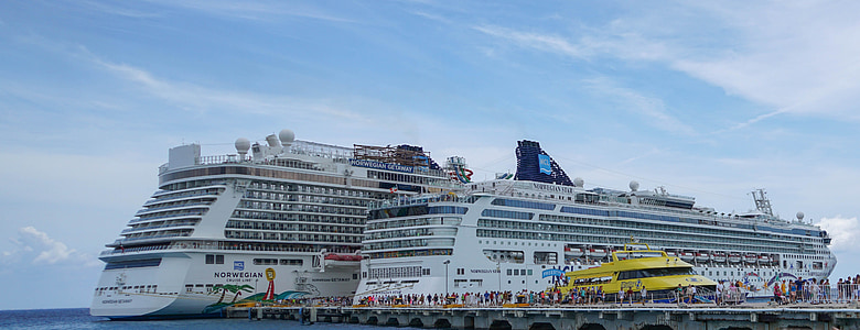 kryssningsfartyg, norska star, norska getaway, Mexico, Karibien, havet, hamn