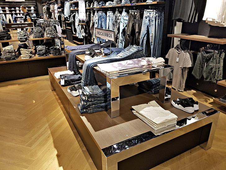 vêtements, Boutique, mode, atmosphère