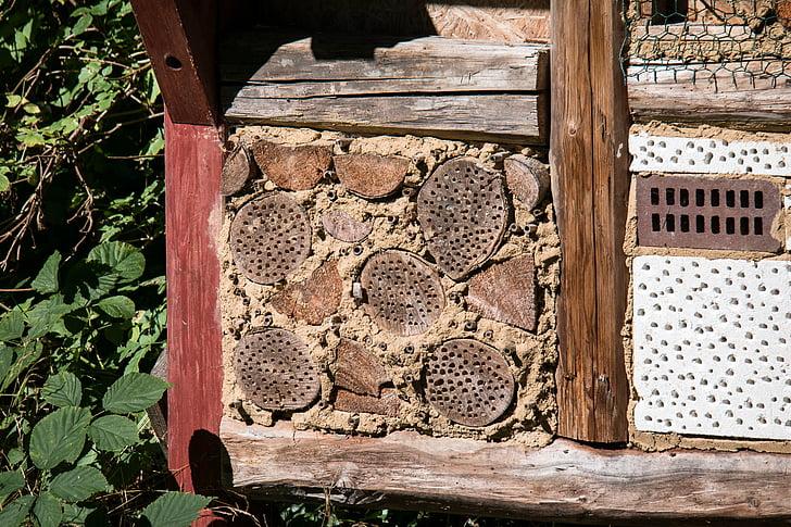 insecten hotel, insect, insecten huis, insect beschermingsmaatregelen, hout, bijen hotel, geperforeerd