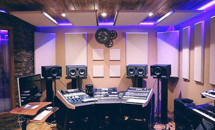 audio, uzņēmējdarbības, vadības telpā, vadīklas, elektronika, Ekvalaizers, aprīkojums