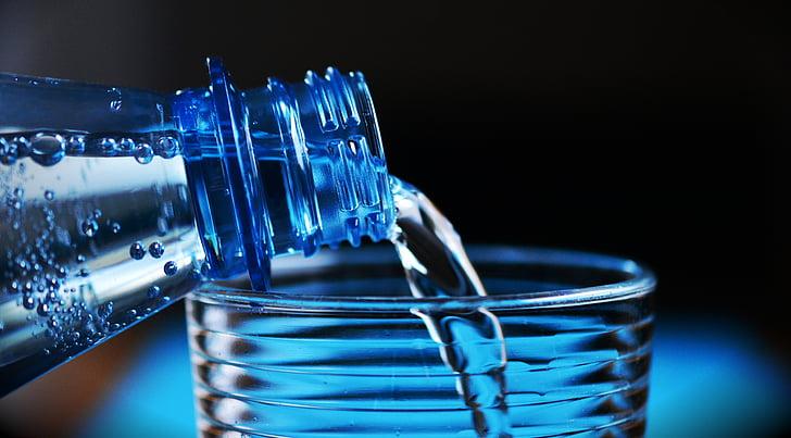 boca, mineralna voda, boca vode, voda za piće, plastična boca, tekućina, plava