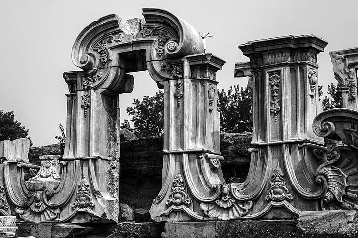cung điện mùa hè, màu đen và trắng, xây dựng