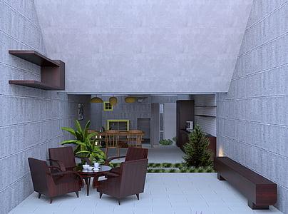 дизайн інтер'єру, Головна, Гарненький, 3D max, Меблі, зоровий образ, сучасні