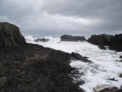 okyanus, su, kayalar, Deniz, kaya, uçuruma, manzara