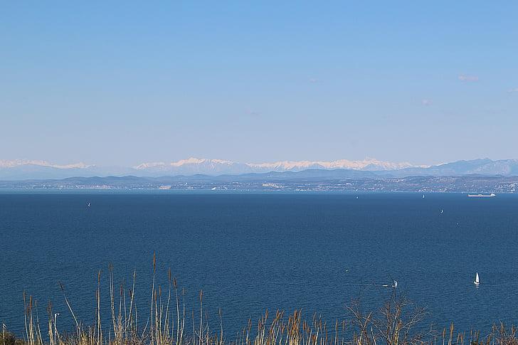 slovenia, sea, alpine, outlook