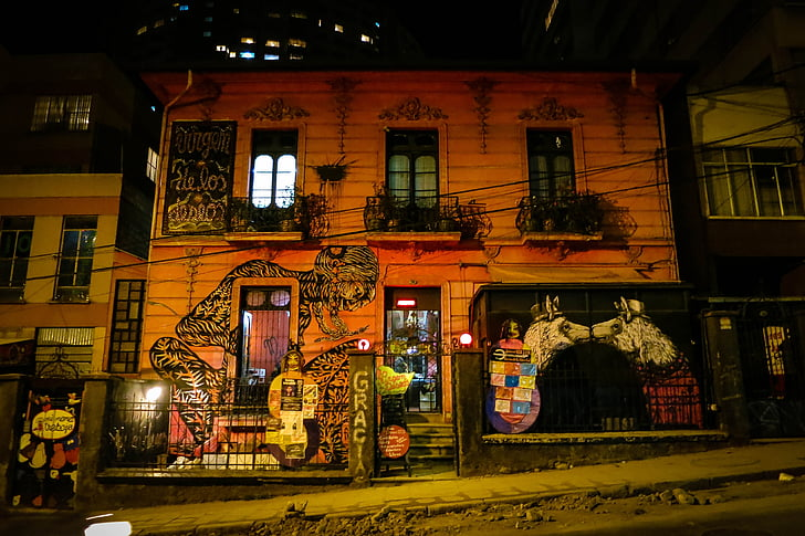 edificio a la paz, Bolivia, Graffiti, murale, arte, vernice spray, costruzione