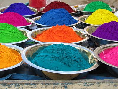 color, guix, l'Índia, color de color, múltiples colors, Pols de curri, Cultura indígena