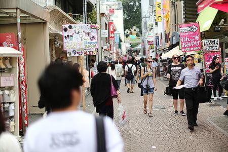 city, tokyo, street view, harajuku, road, humanities, japan