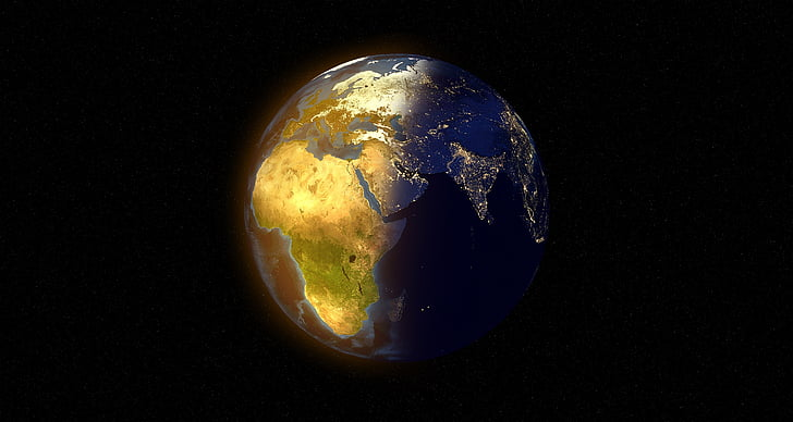 món, globus, dia, nit, sol, estrelles, foscor