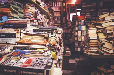 grāmatas, plaukts, plaukts, bibliotēka, skola, izglītība, zināšanas