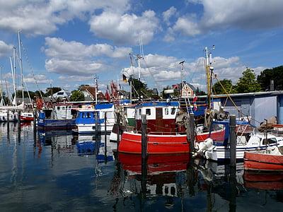 Niendorf, Laut Baltik, Port, Cutter, kapal, boot, laut