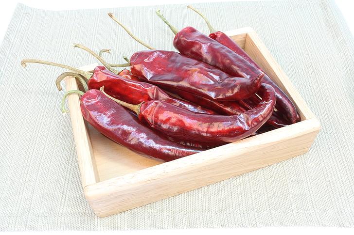 peppar, peppar pistol, Korea peppar, röd paprika, torra peppar, Peppers bild