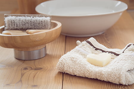 dolent, rentat, sabó, raspall, drap, bol, cura del cos