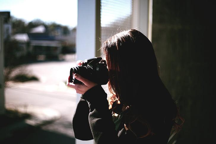 sieviete, saimniecība, DSLR, kamera, fotografēšanas tēmām, kameras - fotoiekārtas, fotografēšanu