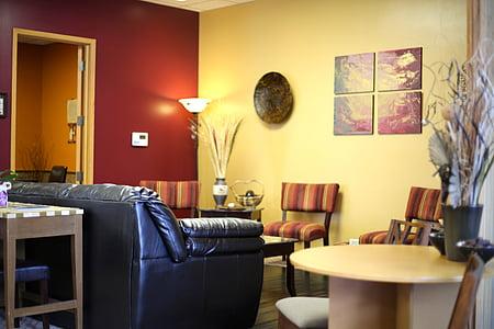 sofà, sofà, sala, sala d'estar, mobles, casa