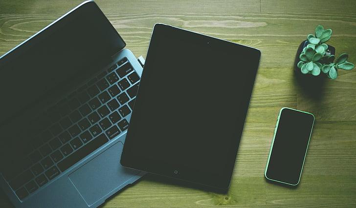 laptop, iPad, organické, prírodné, Tablet, MacBook, koncepčné