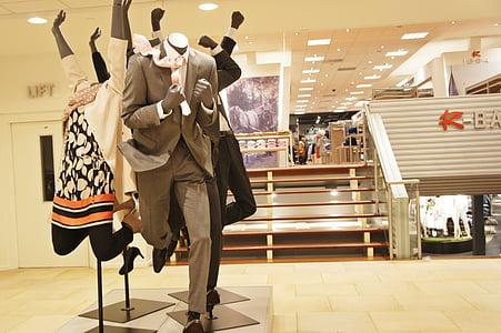 apģērbi, veikals, uzvalks, kostīms, modes, manekens