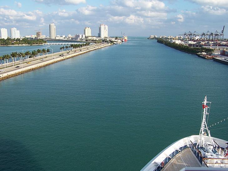 Miami, kryssning, fartyg