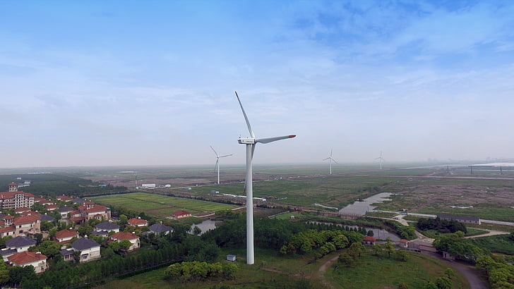 Xina, Xangai, Pont daurat, turbina, medi ambient, turbina de vent, electricitat