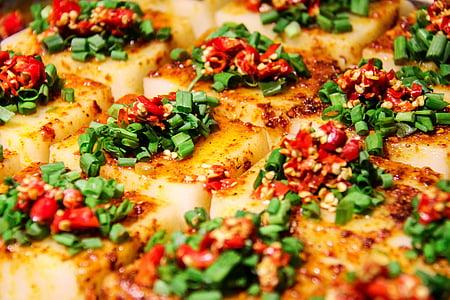 Čína, Gourmet, tofu, pikantné, červená paprika, Sichuan, Chengdu