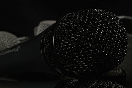 ไมโครโฟน, อุปกรณ์การผลิตเหตุการณ์, เพลง, ร้องเพลง, ปิด, เสียงไมโครโฟน