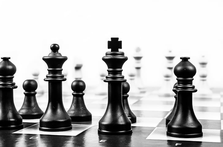 black-and-white, board game, chess, chessboard, game, strategy, pawn - Chess Piece