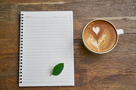 cafè, cafeteria, taula, aliments, beguda, treball, l'obra