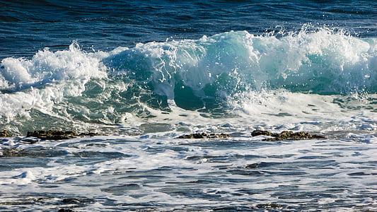 ona, trencant, Mar, platja, natura, blanc, l'aigua