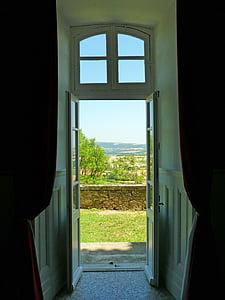 porta, ex, Pierre, antiga porta, medieval, vell, França