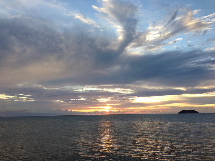 경치, 바다, 태양