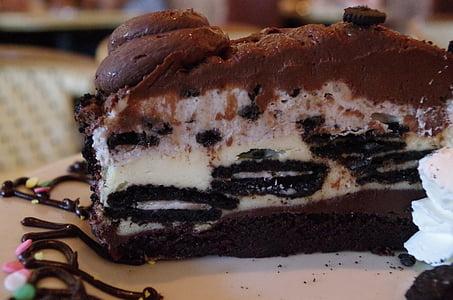 oreo, chocolate, cake, birthday, cheesecake factory, cheesecake, cake piece