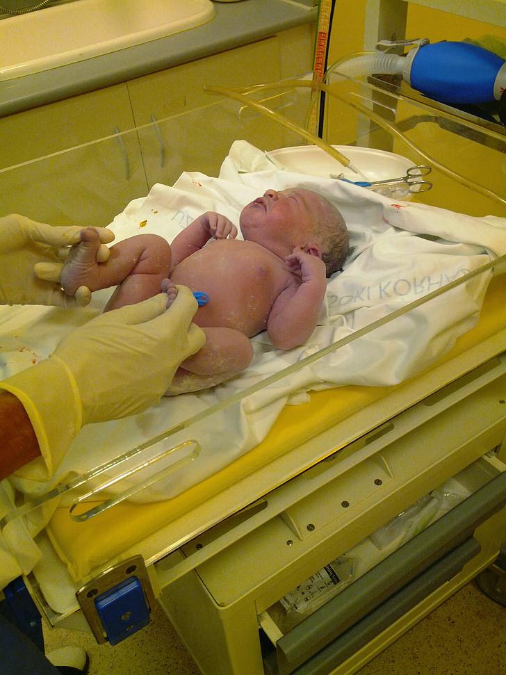 gimimo, pirmąjį gurkšnį, kūdikis, gimdykla, bamba, priežiūra