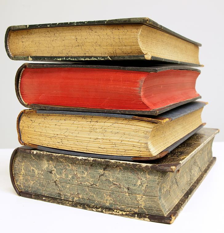 llibres, secció llibre, document, pàgines, llibre, coberta, obligat