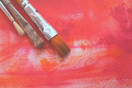 lukisan, cat, kuas, seni, Desain, kanvas, sikat