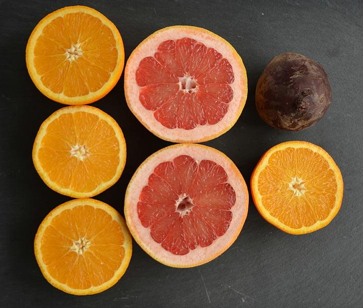 runkelių šaknų, greipfrutų, oranžinė, maisto, vaisių, šviežumo, Citrusiniai vaisiai