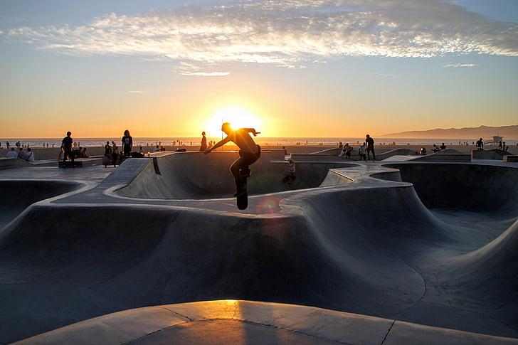 home, passió, persona, monopatí, Skateboarder, skate, skatepark