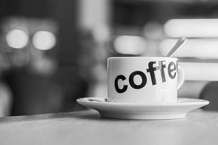 咖啡, 杯, 饮料, 咖啡厅, 杯子, 黑色, 食品