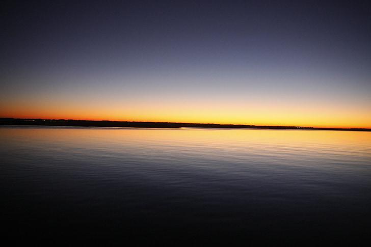 Georgien, soluppgång, Georgien sunrise, vatten, morgon, floden, utanför