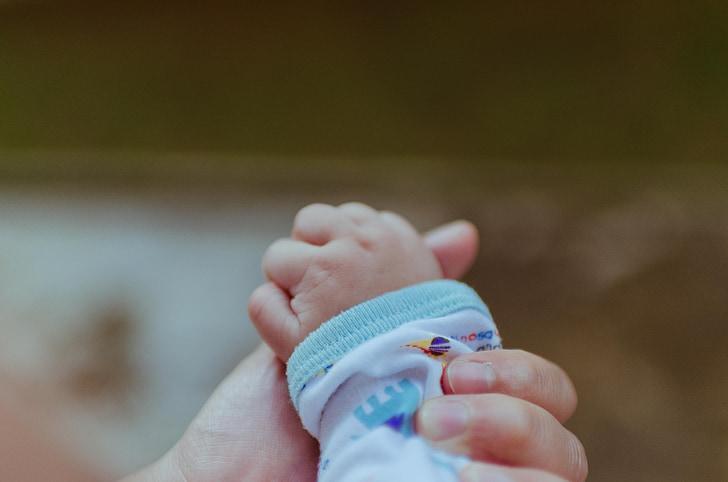 Baby, ruky, rodina, ľudia, láska, dieťa, malé