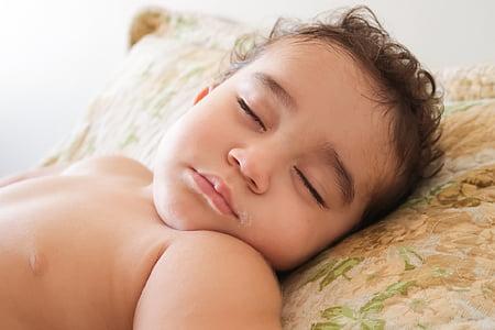 baby, sleeping, sleep, childish, cute, one Person, bed