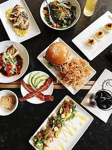 vegetals, Amanida, aliments, Restaurant, taula, esmorzar, dinar