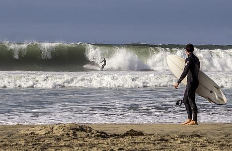 surf, ondas, oceano, surf, praia, Verão, água