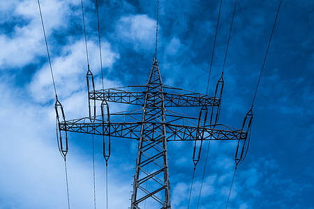 strommast, current, energy, high voltage, line, electricity, power supply
