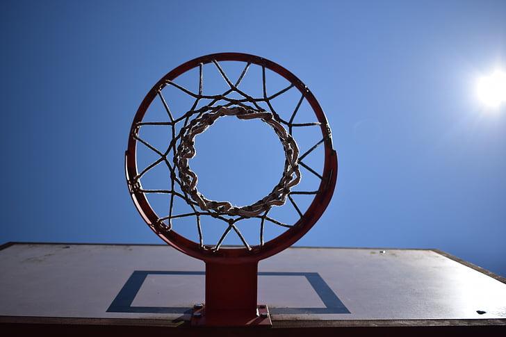 panier de basket, Dim, sur, parfait, Sky, district de, nature
